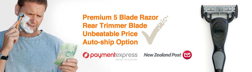 High Quality Razors with Premium 5 Blade Razor Cartridges